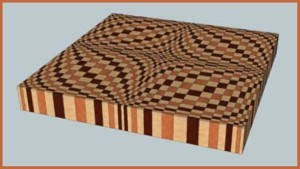 The Wave End Grain Cutting Board