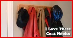 I love these coat hooks