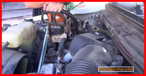 Charging your car battery with a chain saw