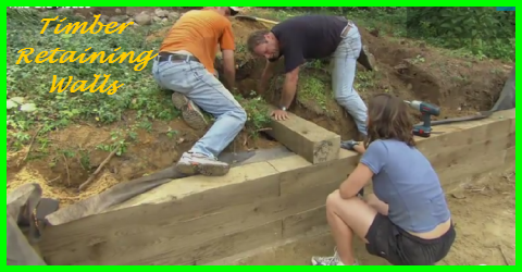 how to build timber retaining walls gotta go do it yourself. Black Bedroom Furniture Sets. Home Design Ideas