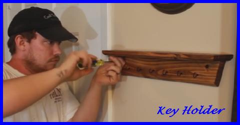 How to build a key holder shelf