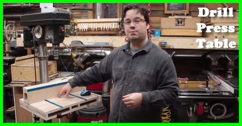 Build an awesome auxiliary drill press table