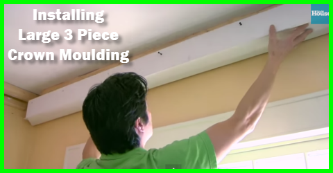 How to install 3 piece crown moulding