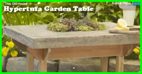 How to build a garden table with a durable hypertufa top for Table exterieur hyper u