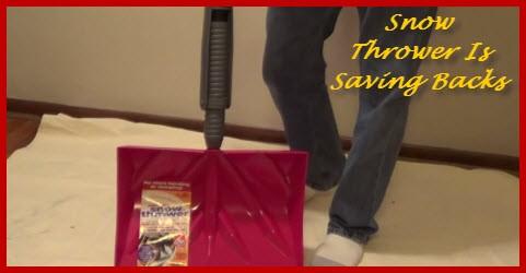 New snow shovel is saving backs