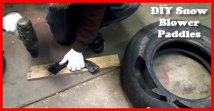 how to replace snow blower paddles