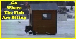 How to build a self propelled ice fishing shack