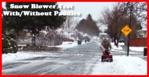 Snow blower modification test