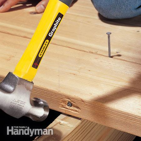 The toenail trick to position lumber accurately