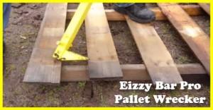 Pallet wood wrecking bar