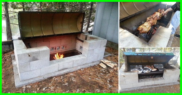 Have you ever cooked on a rotisserie fire pit gotta go for Easy diy fire pit with grill