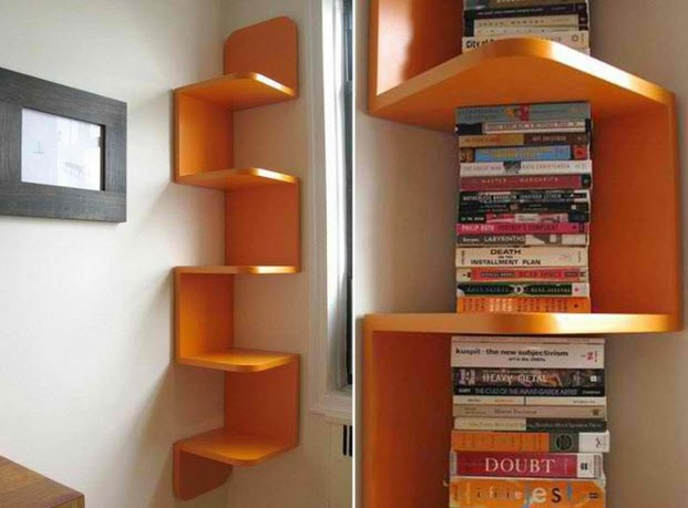 Do It Yourself Bookshelf Ideas: My 6 Favorite Corner Shelf Ideas