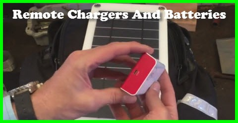 Remote chargers and batteries