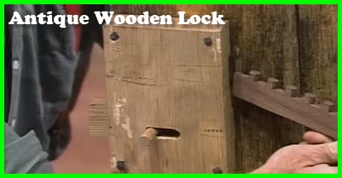 antique wooden lock