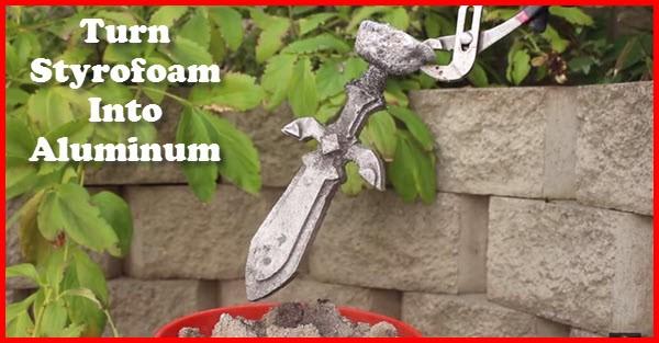 how to turn styrofoam into aluminum
