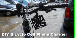 DIY bicycle cell phone charger