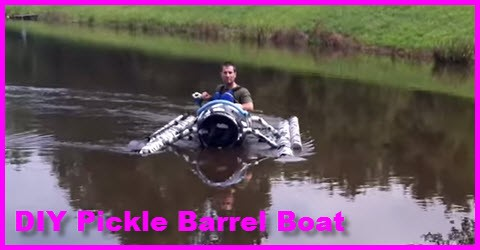 DIY Pickle Barrel Boat