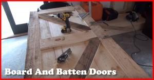 how to build board and batten doors