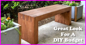 how to build a great looking bench