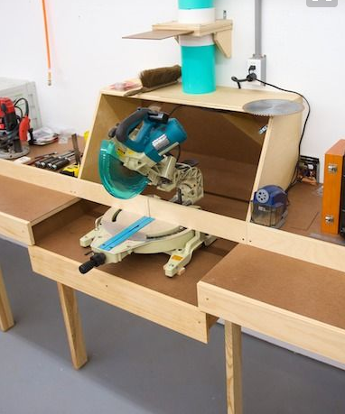 miter saw bench dust colector