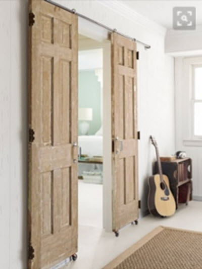 A Double Barn Door Set
