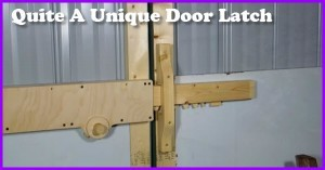 How To Make This Unique Door Latch