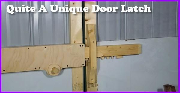 How To Make This Unique Door Latch