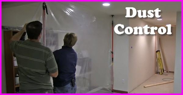 How to put up a dust control barrier