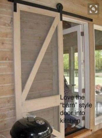 barn door screen door