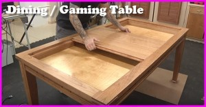 how to build a dining and gaming table