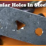 how to make triangular holes in steel