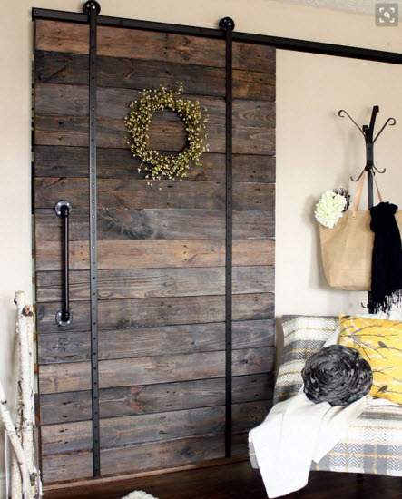 pallet wood barn door