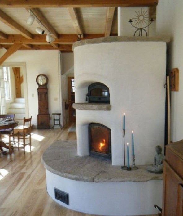 masonry heater with oven 2
