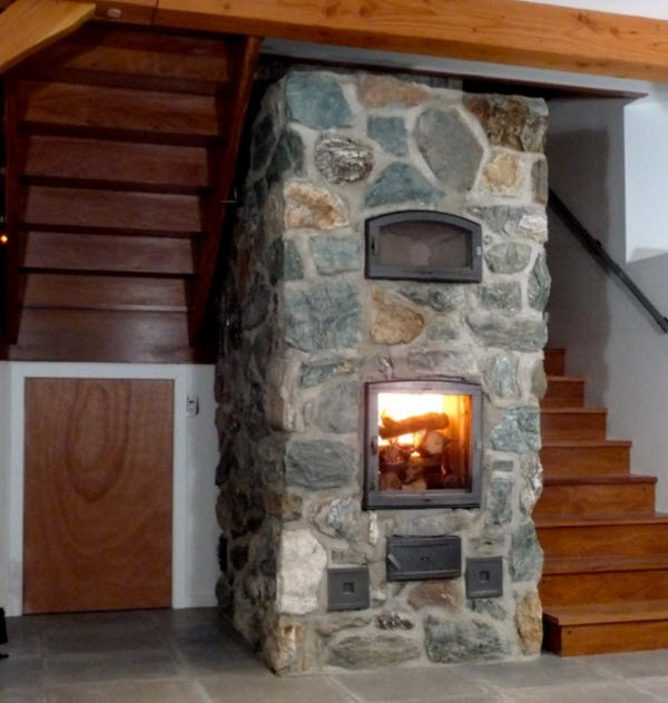 masonry heater with oven